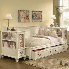Retreat in Antique White Sideways Bed