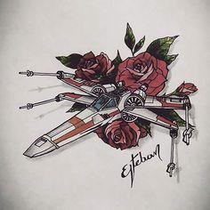 #starwars #rogueone #xfighters #color #ink #estebanpublicist