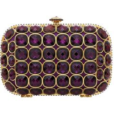 Talullah Tu Talullah Tu Purple Jewel Crystal Clutch Bag (€120) ❤ liked on Polyvore featuring bags, handbags, clutches, purses, bolsas, crystal purse, purple purse, talullah tu, crystal box clutch and hard clutch