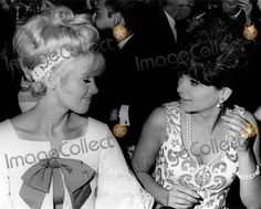 Suzanne Pleshette with Connie Stevens Supplied by Globe Photos, Inc.