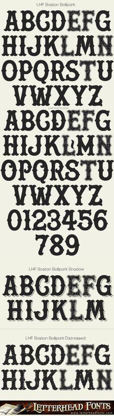 Letterhead Fonts / Boston Ballpark font set / Vintage Baseball Fonts