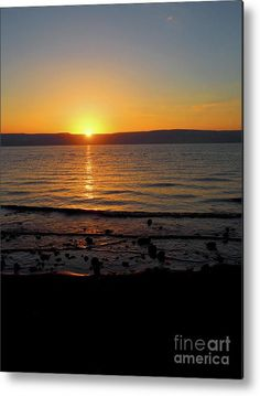 The Ultimate Tranquil Sunrise on the Sea of Galilee, Israel.