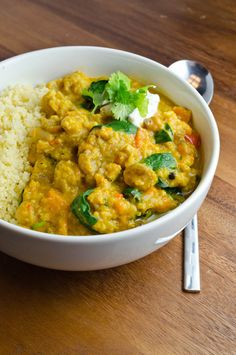 Slow Cooker New Delhi Vegetable Curry with Couscous