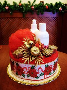 Christmas towel cake