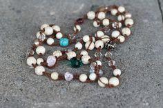 Bohemian Beaded Necklace Boho Chic Crochet Jewelry by Elvish Things