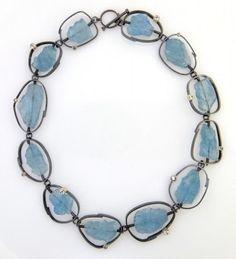 Aquamarine collar - Sydney Lynch