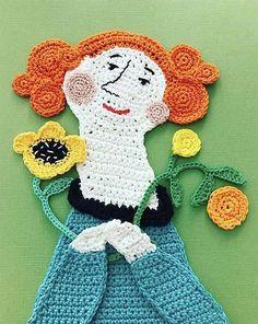 Andiamo alla scoperta delle coloratissime illustrazioni all'uncinetto realizzate dall'artista tessile finlandese Tuija Heikkinen. Crochet Art, Love Crochet, Crochet Stitches, Collage Art Mixed Media, Yarn Bombing, Amigurumi Doll, Knitting Projects, Andiamo, Lily