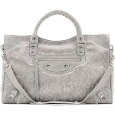Balenciaga Classic City Shearling Tote as seen on Kylie Jenner