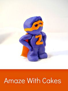 3D Fondant Superhero Cake Topper by AmazeWithCakes on Etsy