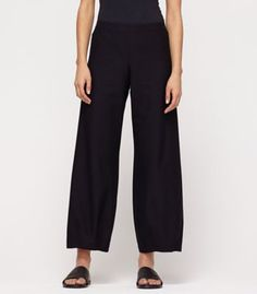 Eileen Fisher Stretch Crepe Lantern Pant