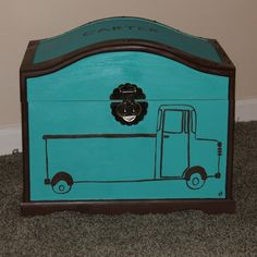 Toy Trunk, Toy Boxes, Trunks, Aqua, Dark, Toys, Trending Outfits, Brown, Vintage