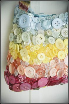 Button covered bag