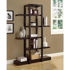 Monarch Specialties - Cappuccino 71 Inch H Open Concept Display Etagere - I 2541 - Home Depot Canada