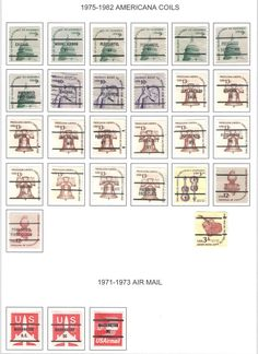 US Bureau Precancels  Coils, Air, Christmas,Transportation  ** 84 stamps Stamp Collecting, Transportation, Stamps, Photo Wall, Frame, Christmas, Ebay, Seals, Picture Frame