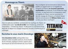 Découvrez l'extraordinaire histoire d'un survivant des naufrages du Titanic et de l'Empress of Ireland  www.tourisme-rimouski.org Ecards, Titanic Sinking, History Websites, Simile, Underwater, Tourism, E Cards