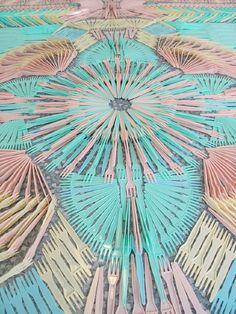 Marvellous detail of Fork Carpet  by WE MAKE CARPETS, 2010 design but still so very impressive