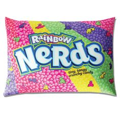 Rainbow Nerds Squishy Candy Pillow