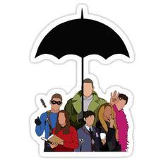 The Umbrella Academy Stickers Red Bubble Stickers, Cool Stickers, Printable Stickers, Laptop Stickers, Stickers Harry Potter, Le Kraken, Robert Sheehan, Tumblr Stickers, Under My Umbrella