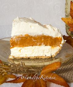 No Bake Triple Layer Pumpkin Pie - a pumpkin pie everyone with LOVE! http://artandthekitchen.blogspot.ca/2013/09/no-bake-triple-layer-pumpkin-pie.html