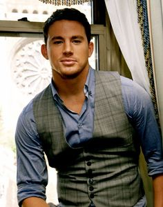 Throw on a vest for a quick addition to a button down. #ChanningTatum