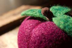 Perky Plum   Felted Fruit Pincushion