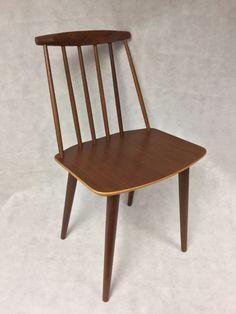 Vintage Mid Mod original 1960s Danish FDB Mobler J77 Dining Chair Folke Palsson