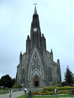 The Cathedral of Our Lady of Lourdes (Portuguese: Catedral Nossa Senhora de Lourdes), also known as Cathedral of Stone (Portuguese: Catedral de Pedra), Catholic church located in Canela, Rio Grande do Sul, Brazil by Jose Paulo