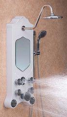 Jet Pro Imperial Shower Spa - Antique White Shower Panels, Rain Shower, Shower Heads, Bathroom Hooks, Wands, Door Handles, Home And Garden, Jets, Massage