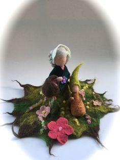 Sezónní ozdoby - Mother Earth se Wurzelkind .Gefilzt.Waldorf - designér kus plsti-typu na DaWanda