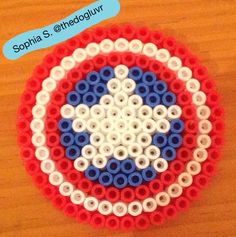 Perler Beads - Captain America's Shield by Sophia S.