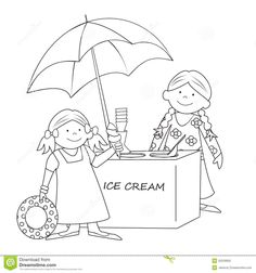 Best Coloring: Coloring pages ice cream stands - Amazing Coloring sheets - Ice Cream Coloring Pages, Summer Coloring Pages, Coloring Pages For Girls, Coloring Pages To Print, Coloring For Kids, Coloring Sheets, Ice Cream Cone Drawing, Ice Cream Buffet, Ice Cream Stand