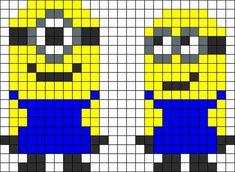 Muchos Minions en punto de cruz con gráficos | Solountip.com