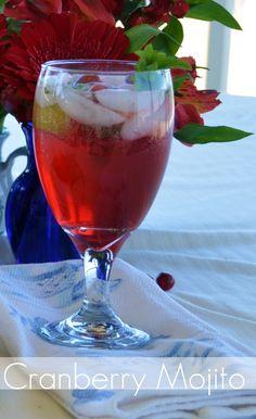 Cranberry Mojito Recipe. So yummy (virgin and non).