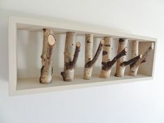 Picture of Mount your shelf and enjoy! Diy Wooden Projects, Wooden Diy, Wood Crafts, Scandinavian Bowls, Paul Design, Creative Bookshelves, Tree Branches, Olive Branches, Coat Hooks