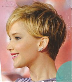 Jennifer Lawrence hair (side)