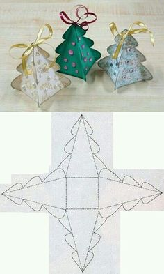 DIY Christmas Tree Box Template diy christmas how to tutorial christmas gifts christmas crafts christmas diy Diy Christmas Tree, Christmas Projects, Christmas Greetings, Holiday Crafts, Christmas Holidays, Christmas Ornaments, Origami Christmas, Christmas Crafts For Kids To Make At School, Christmas Crafts To Sell Handmade Gifts