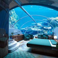 World's Most Unusual Hotels – Poseidon Undersea Resort, Fiji - Can you image waking up see fish swimming by your window?  SO COOL!!!!!