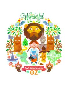 Fables and Fairy Tales Prints - The Wonderful Wizard of OZ