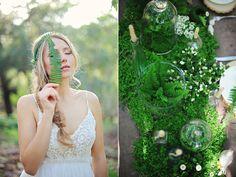fern wedding decorations - photo by ArinaB Photography http://ruffledblog.com/greenery-filled-wedding-ideas