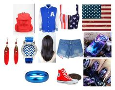 """""""American Babe"""" by jmp-123 ❤ liked on Polyvore featuring Pottery Barn, Converse, BDG, Breil and 2b bebe"""