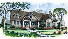 Eplans Craftsman House Plan - Frugal Yet Fine - 2326 Square Feet and 3 Bedrooms(s) from Eplans - House Plan Code HWEPL11264