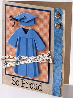 Cap and Gown Grad Card