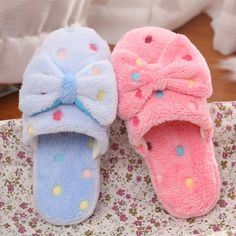 >> Click to Buy << 2017 Winter Women Slippers Cotton Non-silp Slippers Man Indoor Home Shoes Warm Adult Shoes Plush Pantufas with Bowtie Loafers #Affiliate