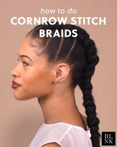 Cornrow Stitch Braids Type 4 KinkyCurly Natural Hair Curly African American hair styles thick coarse b. - Makeup Tips African American Braided Hairstyles, African Hairstyles, Trendy Hairstyles, Braided Hairstyles Natural Hair, Cornrows Natural Hair, African American Braids, Short Haircuts, Pelo Afro, Types Of Braids