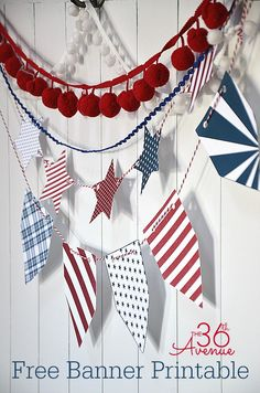 Fourth o' July—Free Printables... Everything you need to celebrate!!!  the36thavenue.com