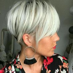 100 Mind-Blowing Short Hairstyles for Fine Hair Short Silver Blonde Undercut Short Hairstyles For Women, Cool Hairstyles, Hairstyle Men, Formal Hairstyles, Hairstyles Haircuts, Straight Hairstyles, Medium Hairstyles, Wedding Hairstyles, Blonde Short Hairstyles