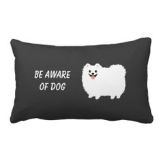 Cute White Pomeranian with Custom Text - Use this link for coupon codes: https://www.zazzle.com/coupons?rf=238077998797672559