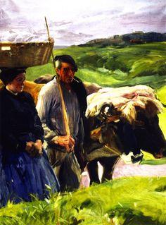 The Athenaeum - Typical Guipuzcoans (Joaquin Sorolla y Bastida - ) Spanish Painters, Spanish Artists, Claude Monet, August Renoir, Valencia, Pastel Landscape, Impressionism Art, Impressionist Paintings, Oil Paintings