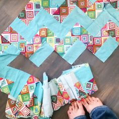 Super Easy Zig Zag Colorful Quilt