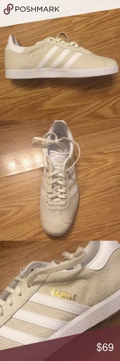 7.5 Adidas gazelle cream beige sneakers Brand new, no box included. I only have one pair adidas Shoes Athletic Shoes
